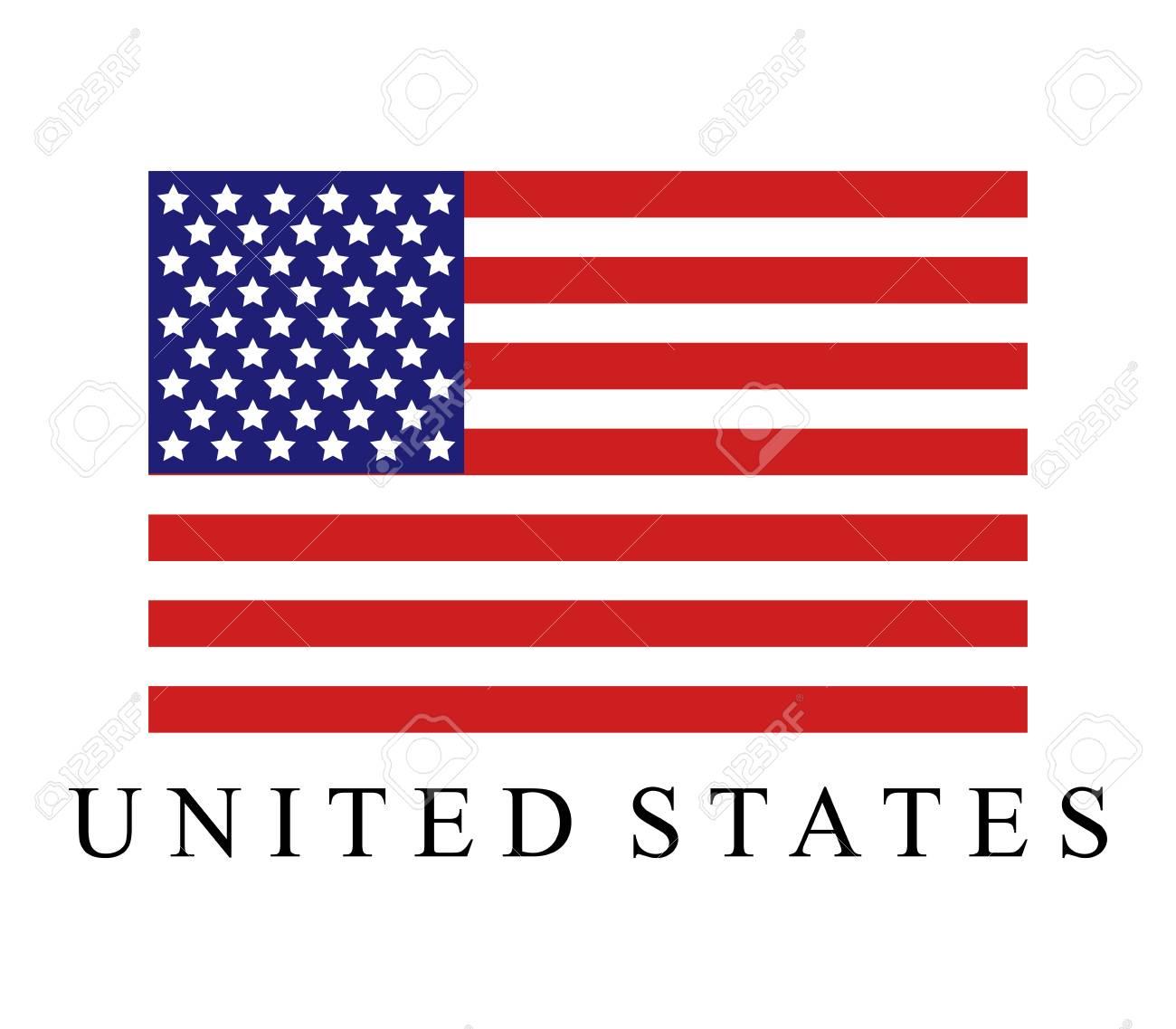 United States flag icon. - 98363617