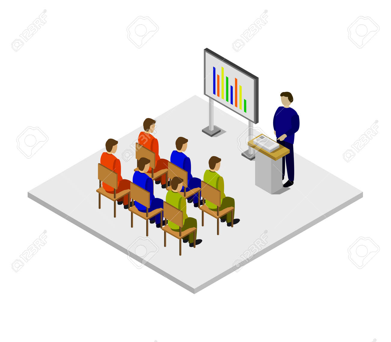 isometric conference room - 152768356