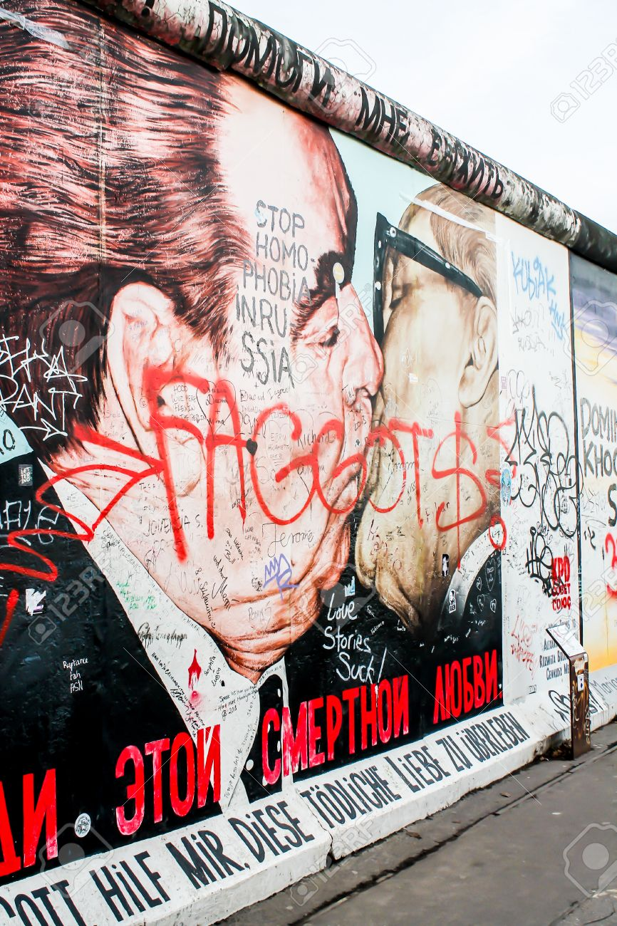 Berlin Wall In Germany Symbol Of The Iron Curtain That Separated
