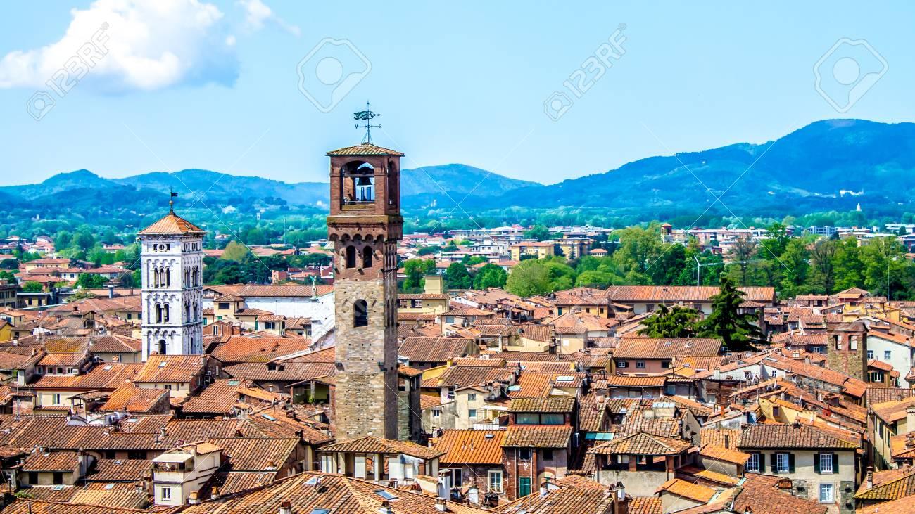 ルッカ、イタリアの町並み の写真素材・画像素材 Image 66412933.