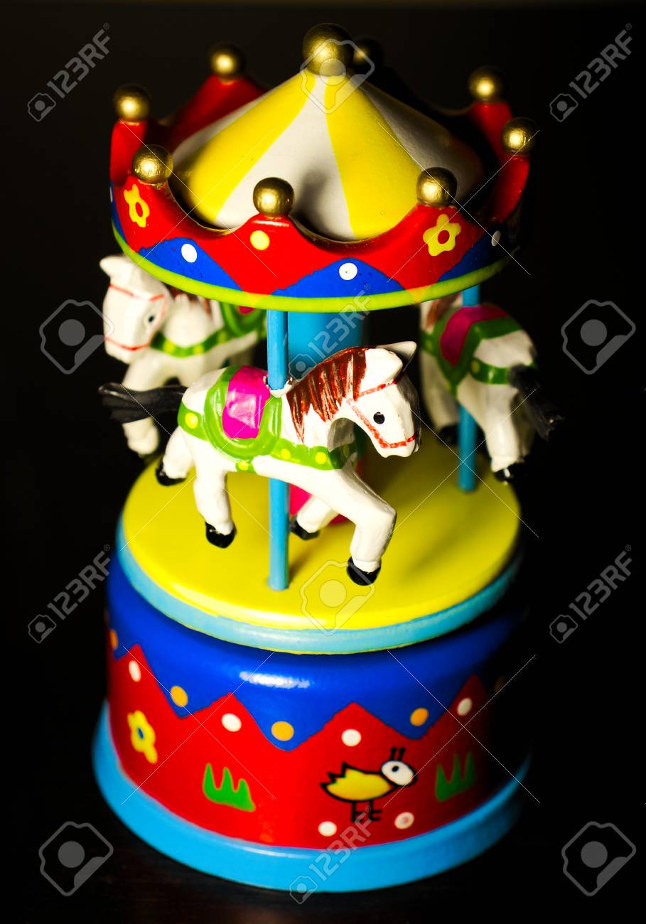 Little Toy Carousel Horses Merry Go Round Stock Photo Picture And Royalty Free Image Image 96495325