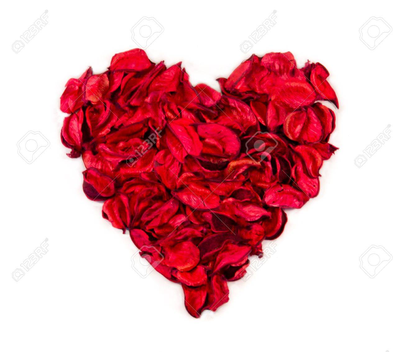 heart made with flower petals Stock Photo - 16726252