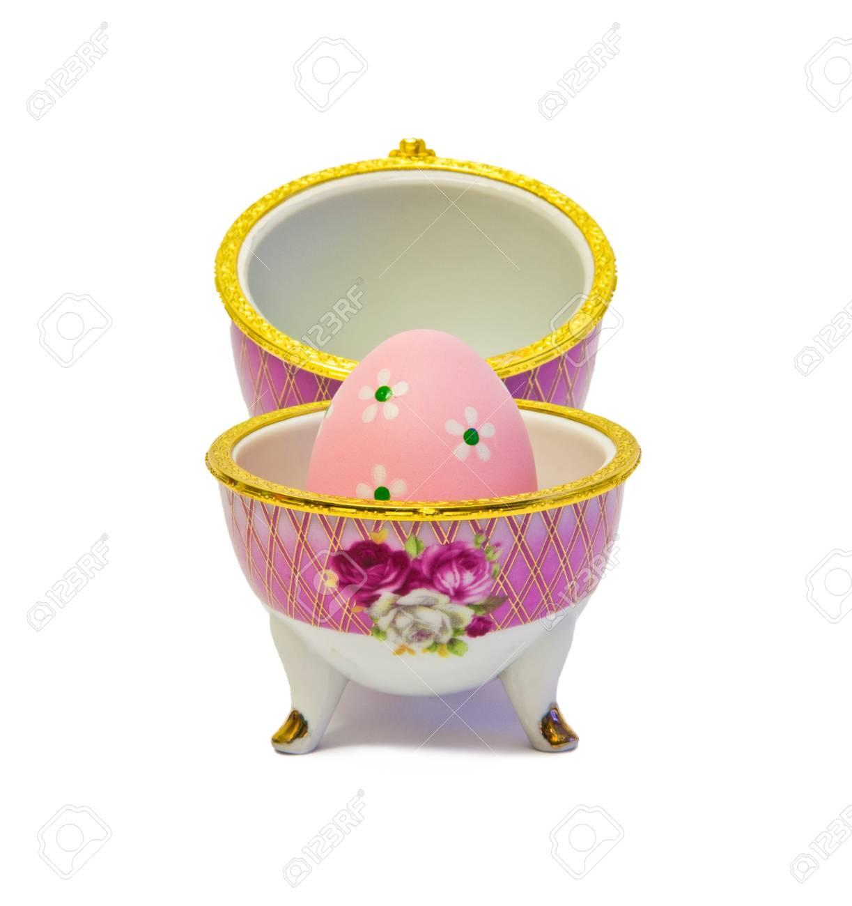 Uova Di Pasqua Ceramica.Ceramica Uovo Di Pasqua Isolato Su Bianco