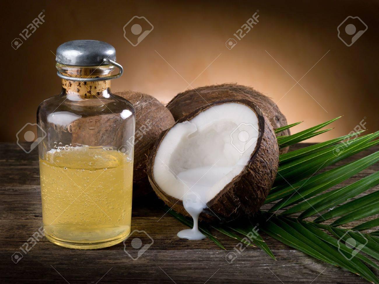natural coconut walnut oil Stock Photo - 9555903