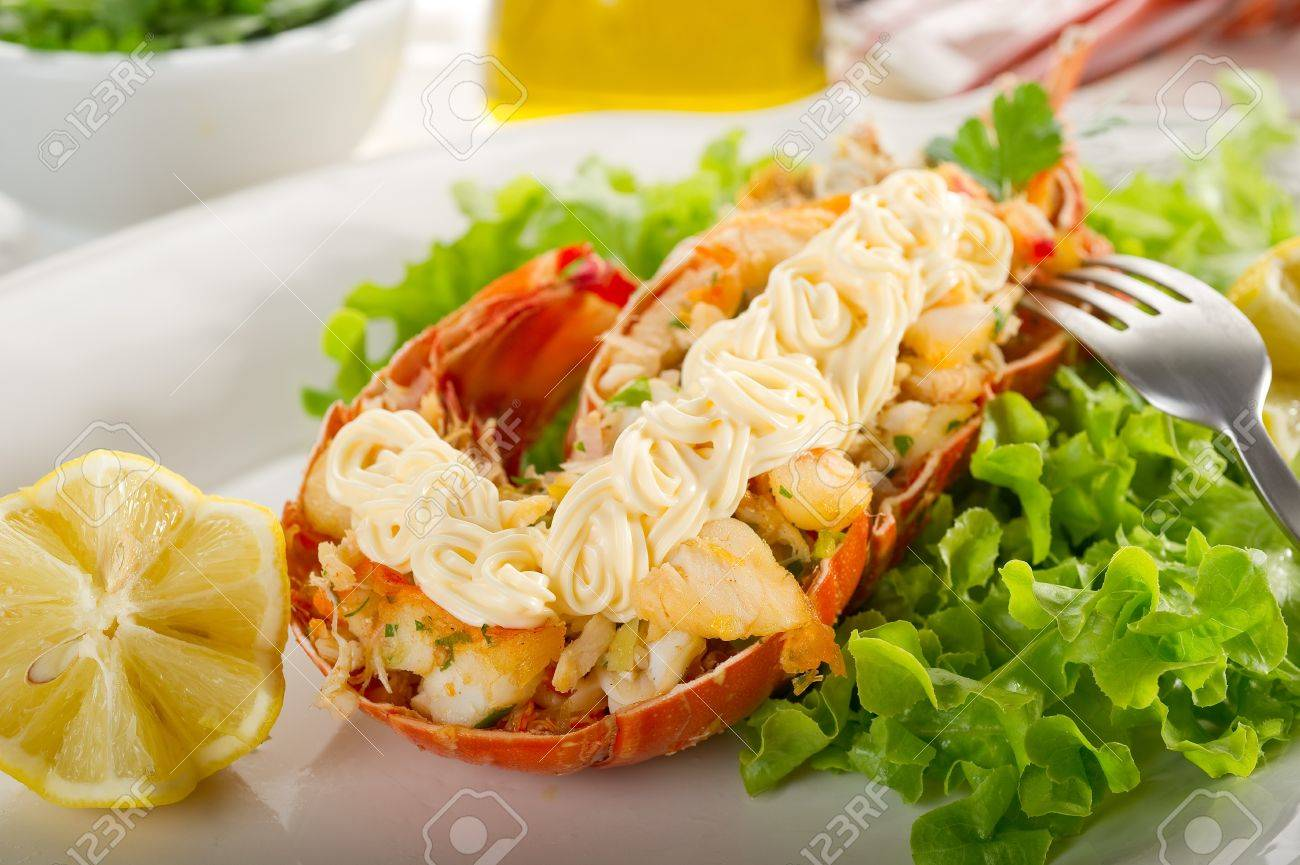 lobster with mayonnaise sauce- Aragosta con maionese Stock Photo - 10242565
