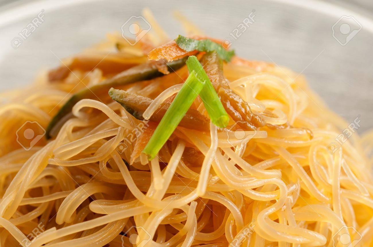 soy spaghetti close up Stock Photo - 10527265