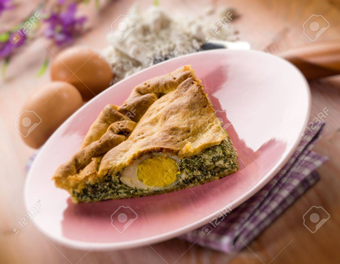 pasqualina cake, traditional italian  easter food Stock Photo - 17291224