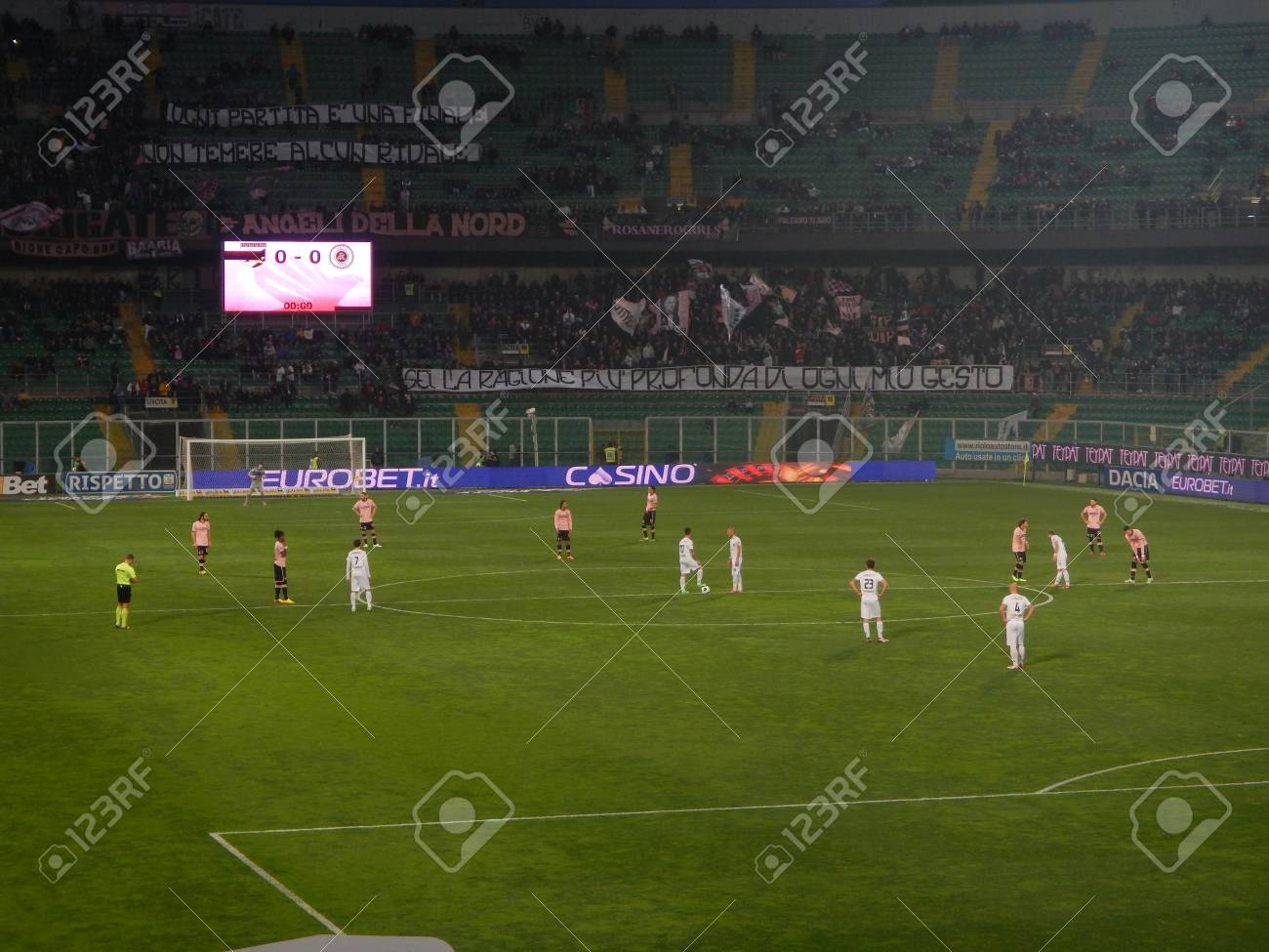 Palermo Italy February 22 2014 Us Citta Di Palermo Vs Spezia Stock Photo Picture And Royalty Free Image Image 26218332