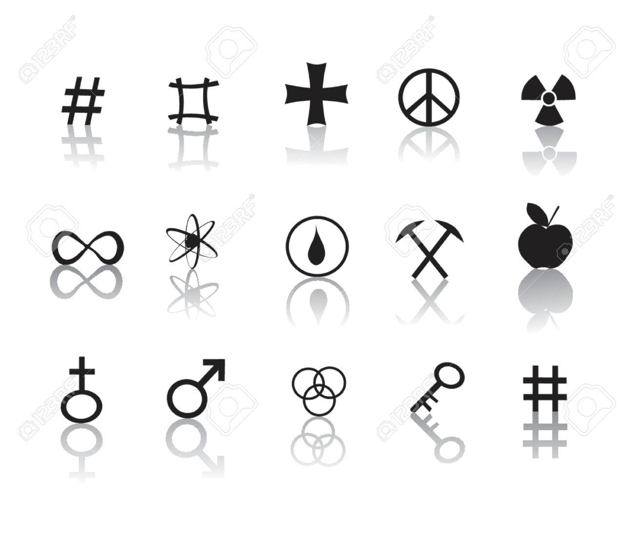 En Blanco Y Negro Signos Y Símbolos Iconos Ilustraciones Vectoriales