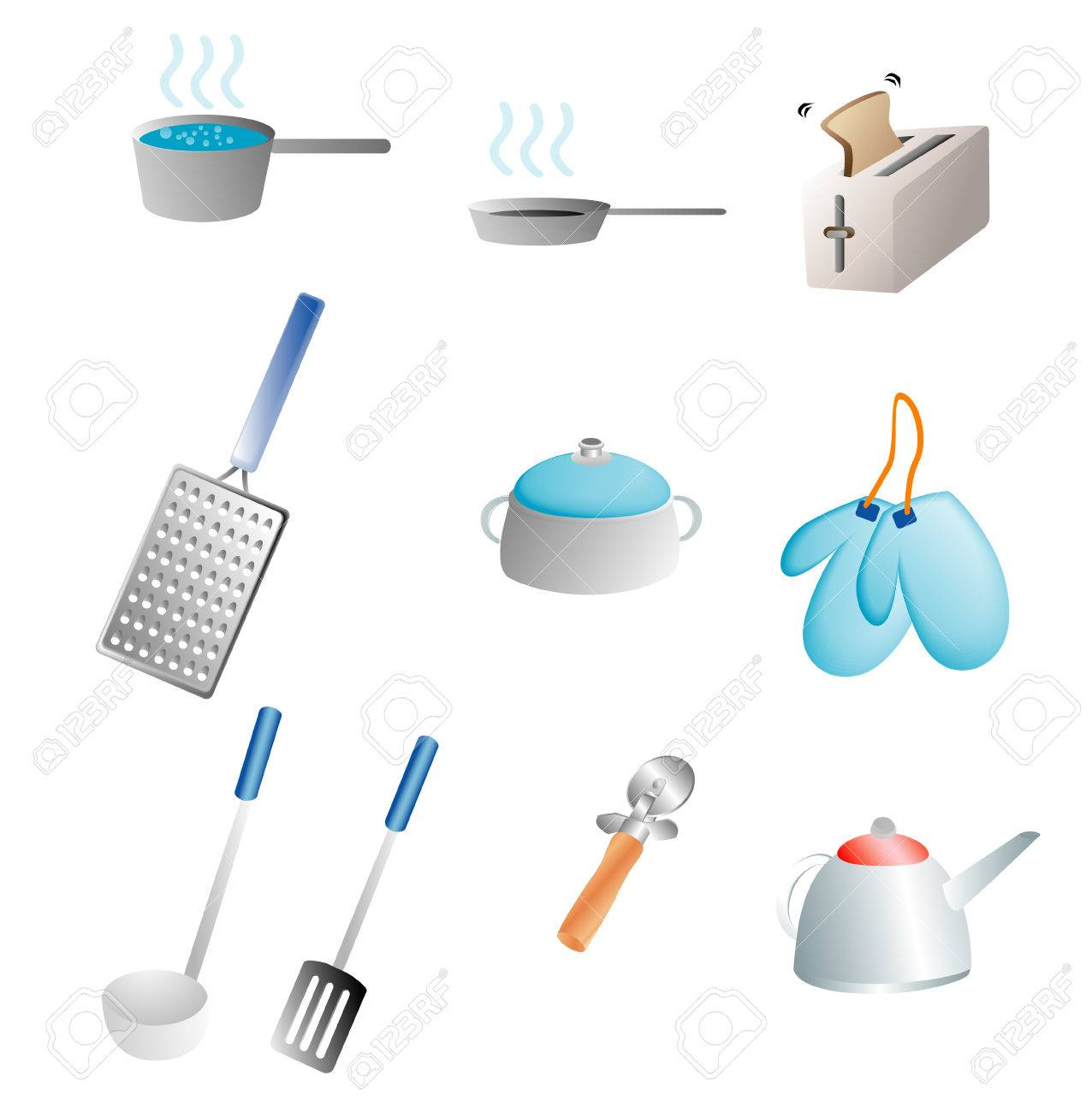 various kitchen items related to cooking Stock Vector - 1676373