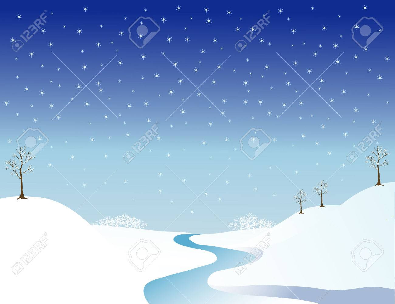 Landscape with river in the wintertime Stock Photo - 1676425