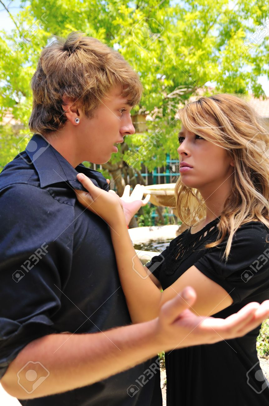woman angry at her boyfriend Stock Photo - 5160755