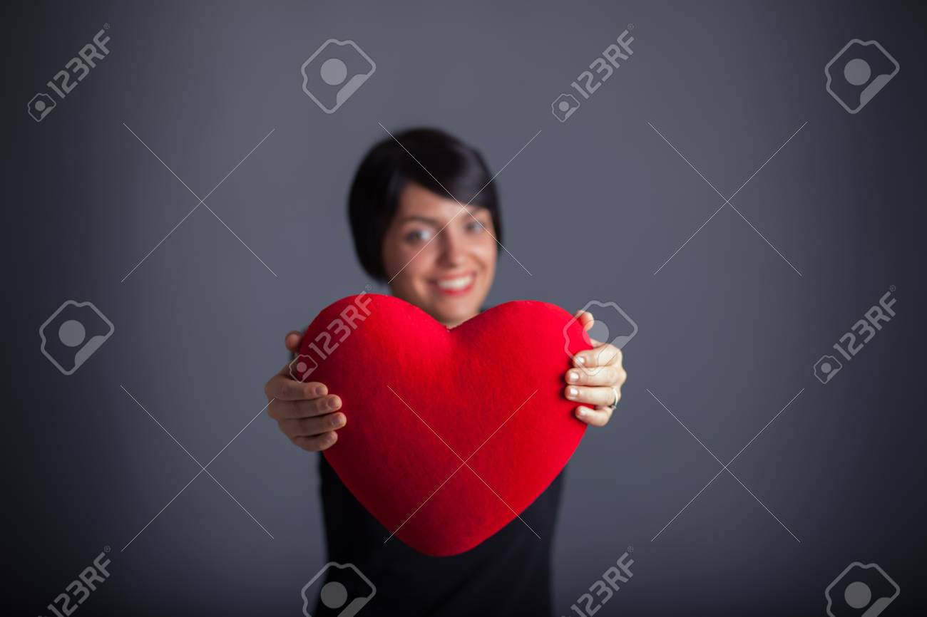 Girl with Heart Stock Photo - 17870125