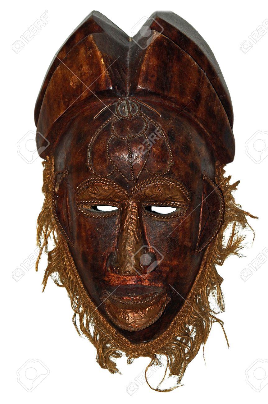 Afričke maske - Page 4 14576812-old-african-mask-with-copper-details