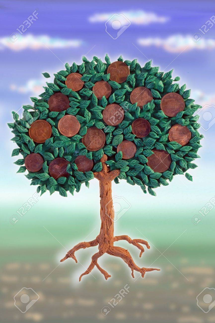 Money tree with coins as fruits Stock Photo - 7825225