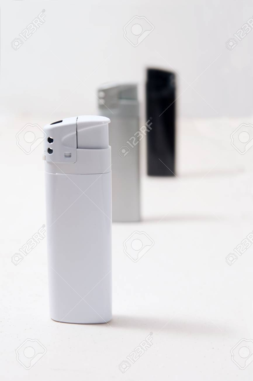 Three lighters, black white and gray , monochromatic photo Stock Photo - 11901404