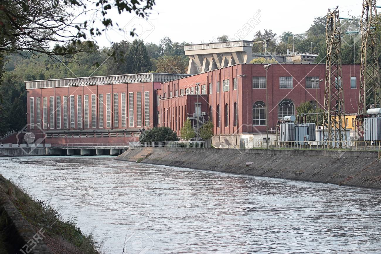 Hydroelectric Power Station in Vizzola Ticino, Lombardy, Italy Stock Photo - 22576841