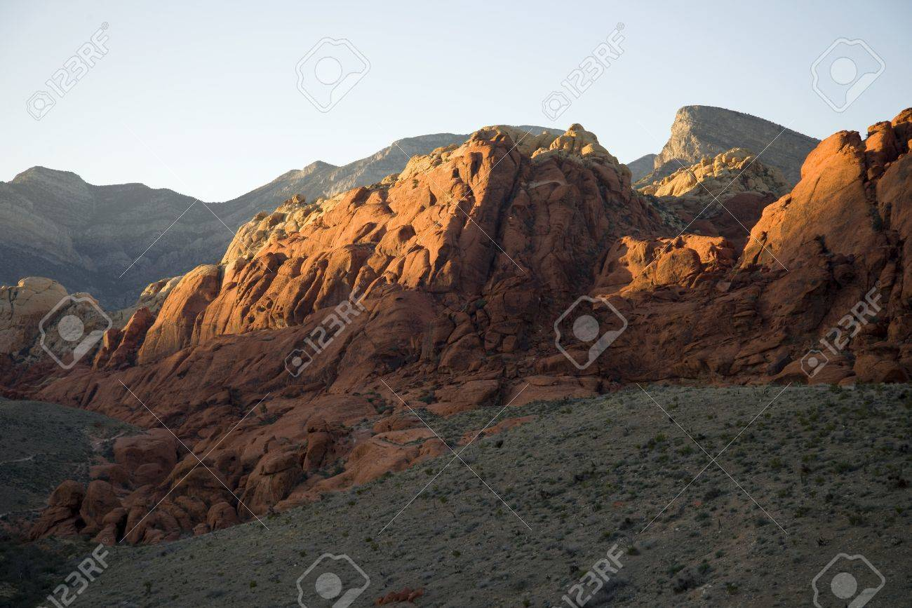 Rock Formations in Red Rock Canyon, Nevada Stock Photo - 18704753