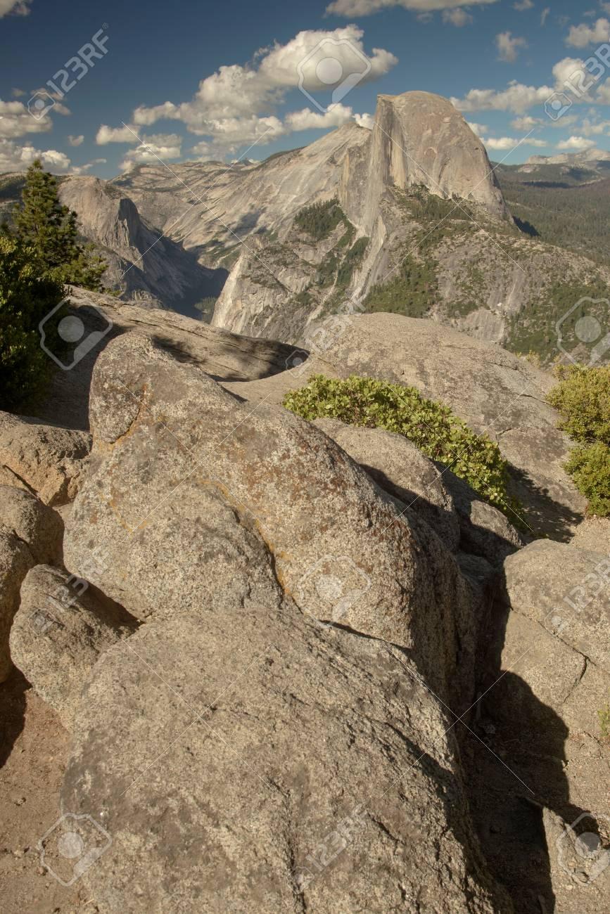 Half Dome in Yosemite National Park from Glacier Point Stock Photo - 74449332