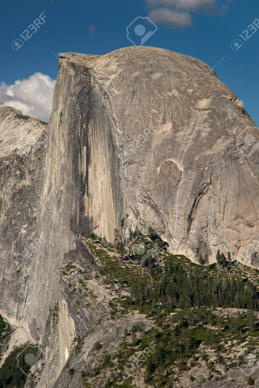 Half Dome in Yosemite National Park from Glacier Point Stock Photo - 74449346
