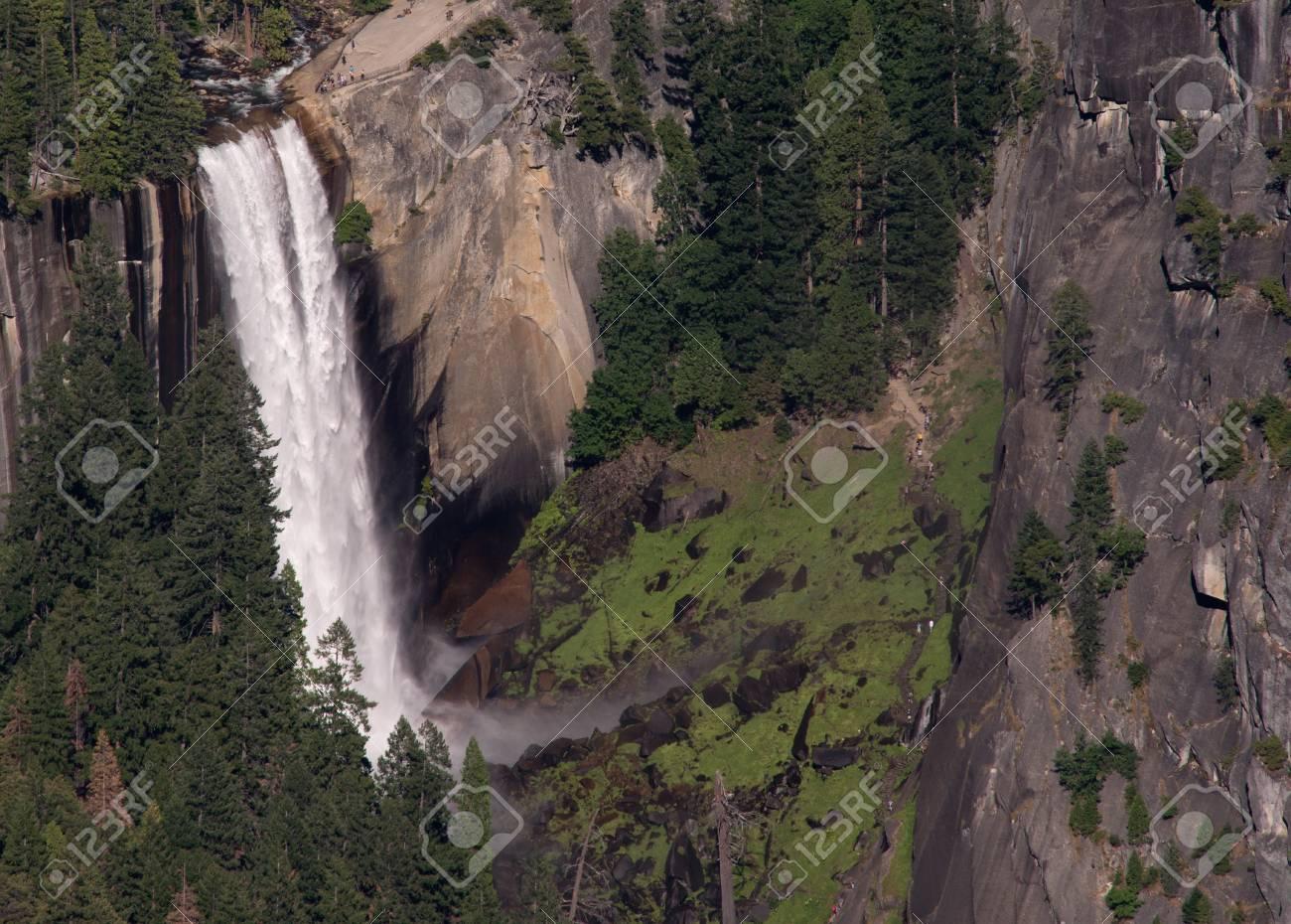 Yosemite Falls from Glacier Point, Yosemite National Park Stock Photo - 74449366