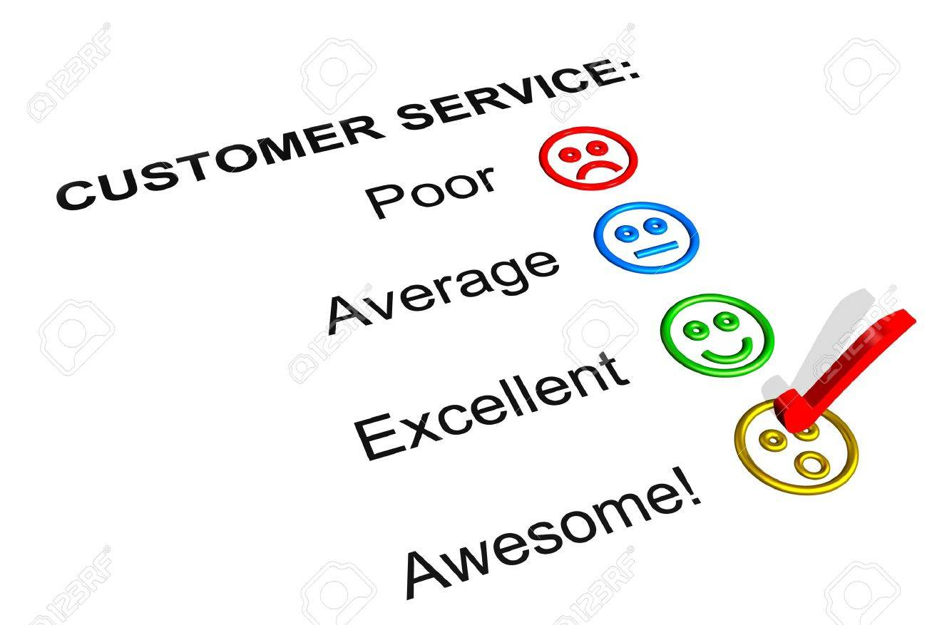 Customer Service Feedback Form Showing An Awesome Rating Stock Photo ...