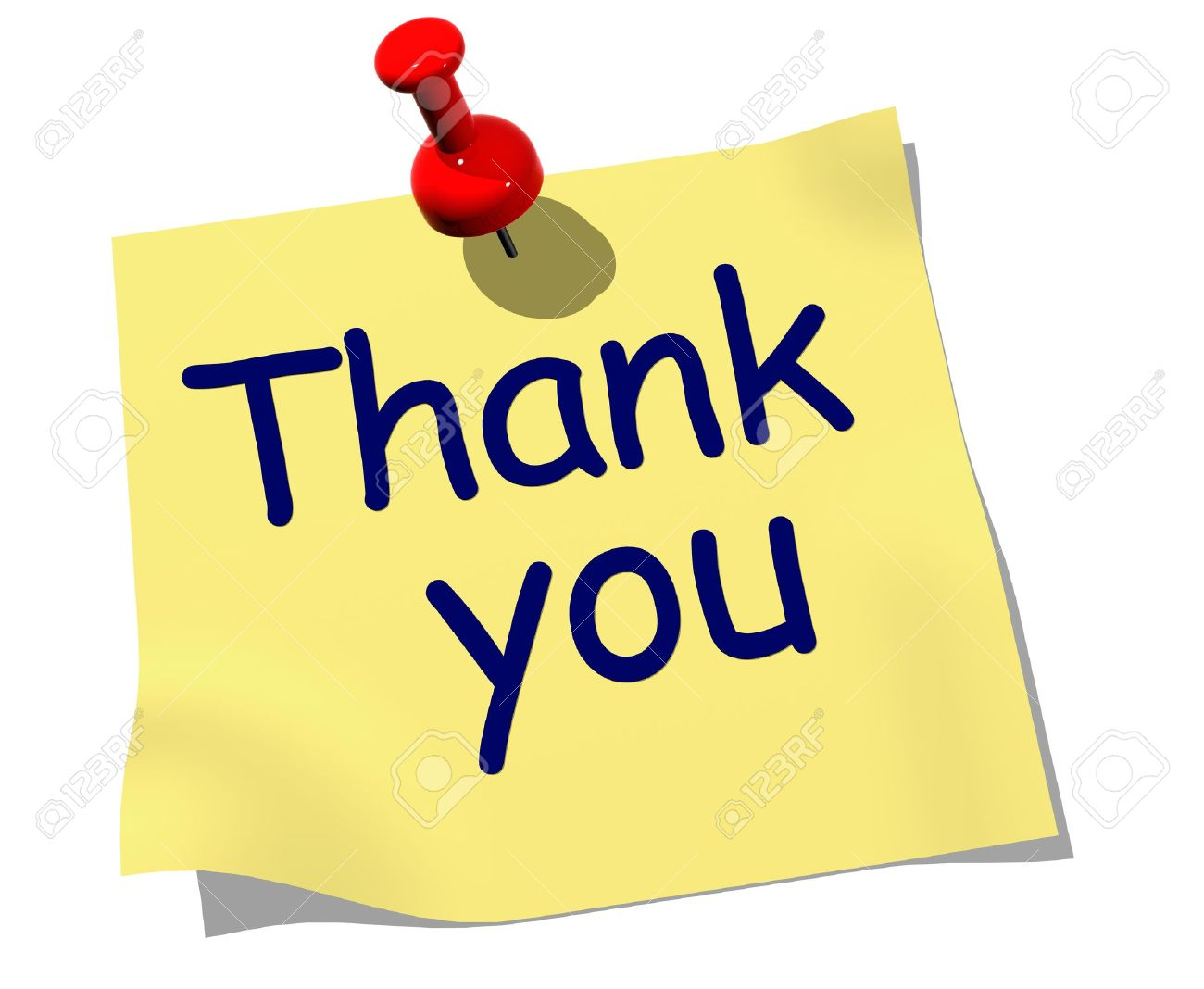 d thank you stock photos pictures royalty d thank you 3d thank you note the words thank you pinned to board
