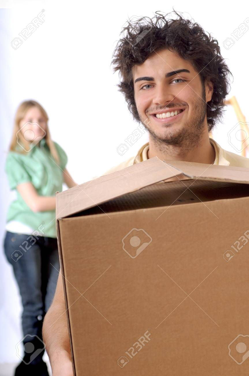young couple purchase new home, smile and look in camera Stock Photo - 4320980