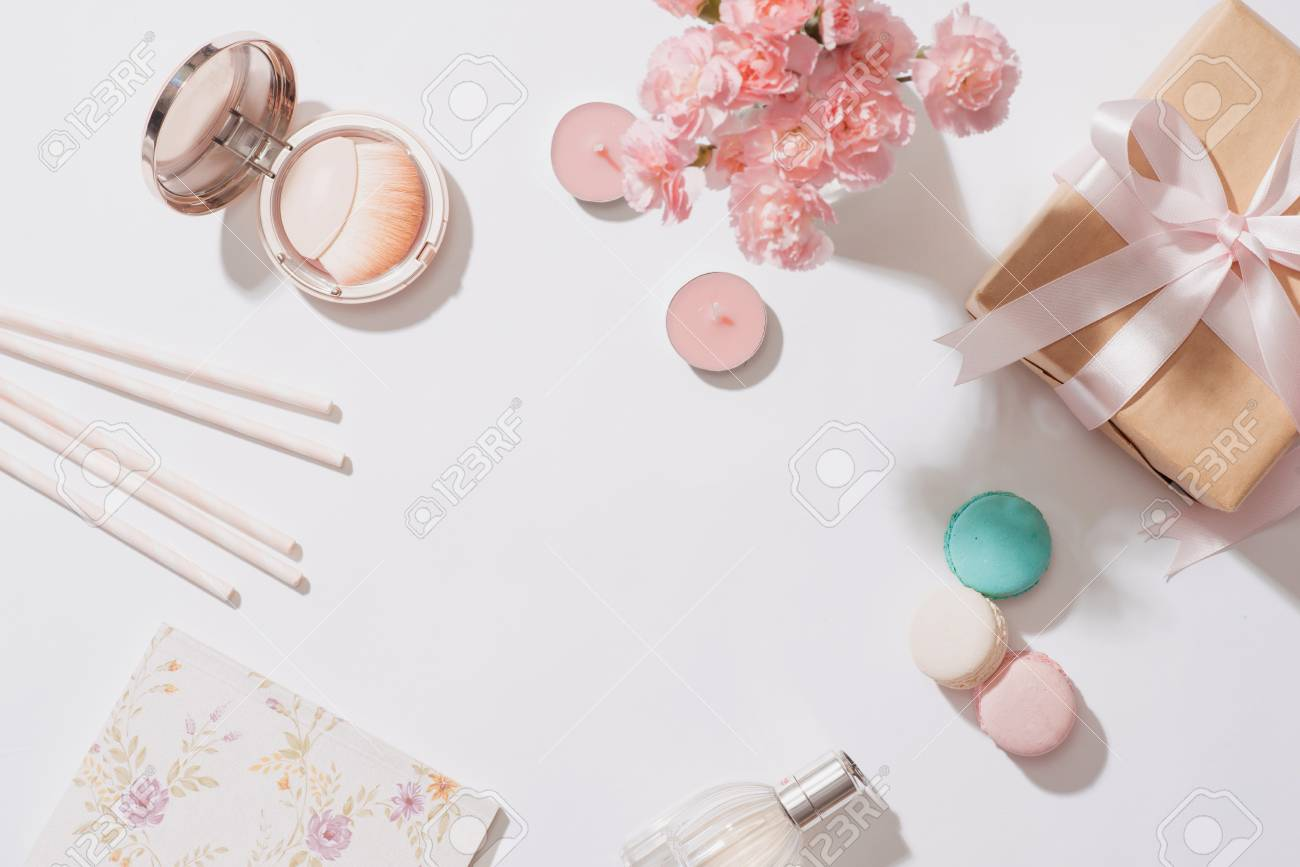 Creative And Fashion Composition Stationery Objects On Desk Stock Photo Picture And Royalty Free Image Image 100063089