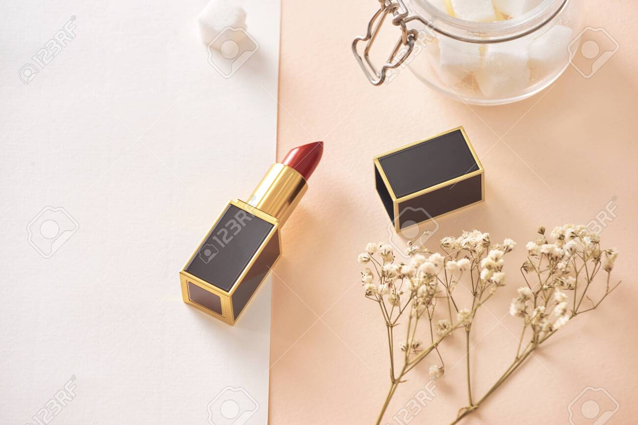 Love valentine together happy affection concept with lipstick - 120517742