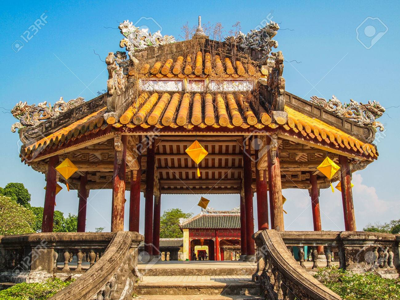 Pagoda At Forbidden Purple City Hue Vietnam Stock Photo Picture And Royalty Free Image Image 36923873