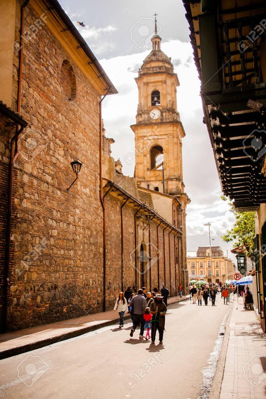 ボゴタ, コロンビアの大聖堂。カンデラリア の写真素材・画像素材 ...