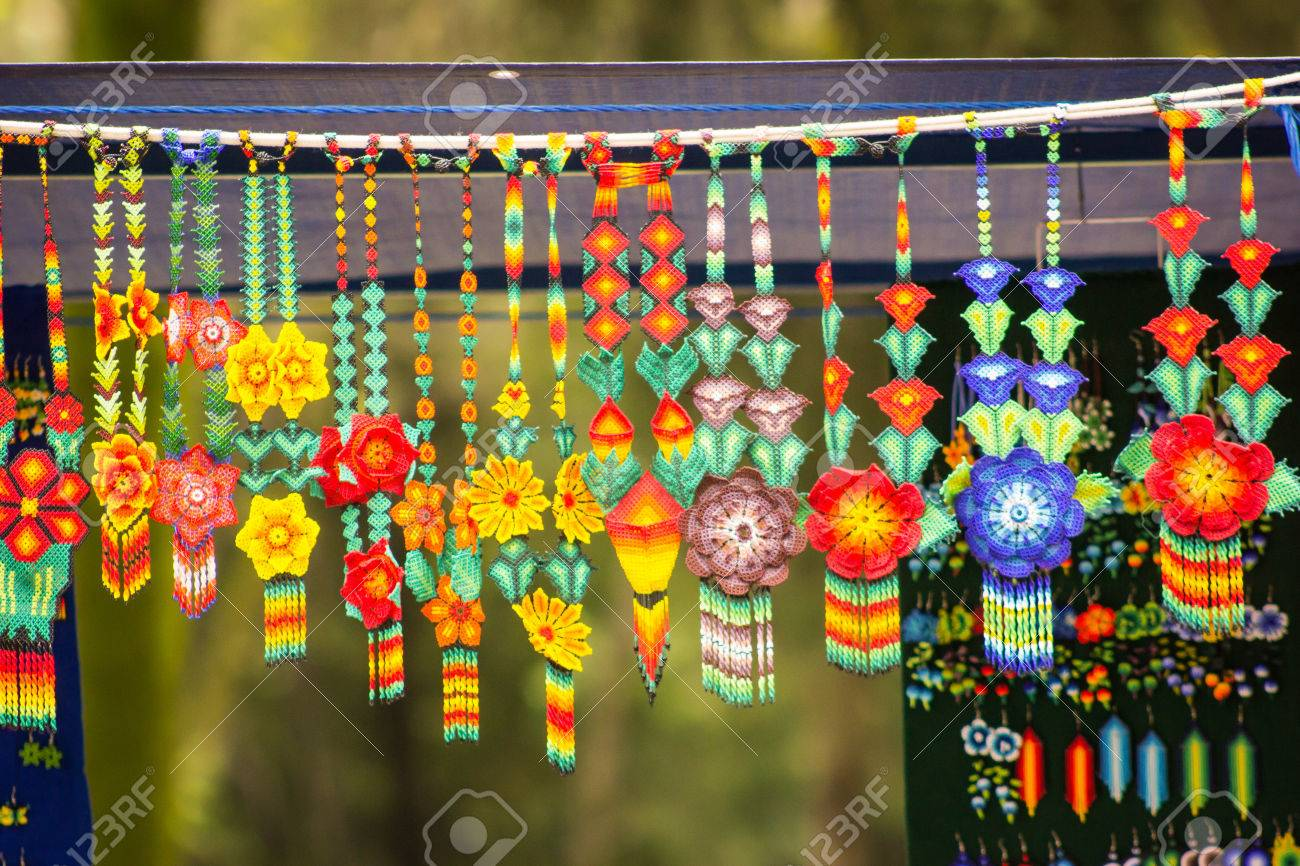 sell of crafts collars at mexico city stock photo picture and