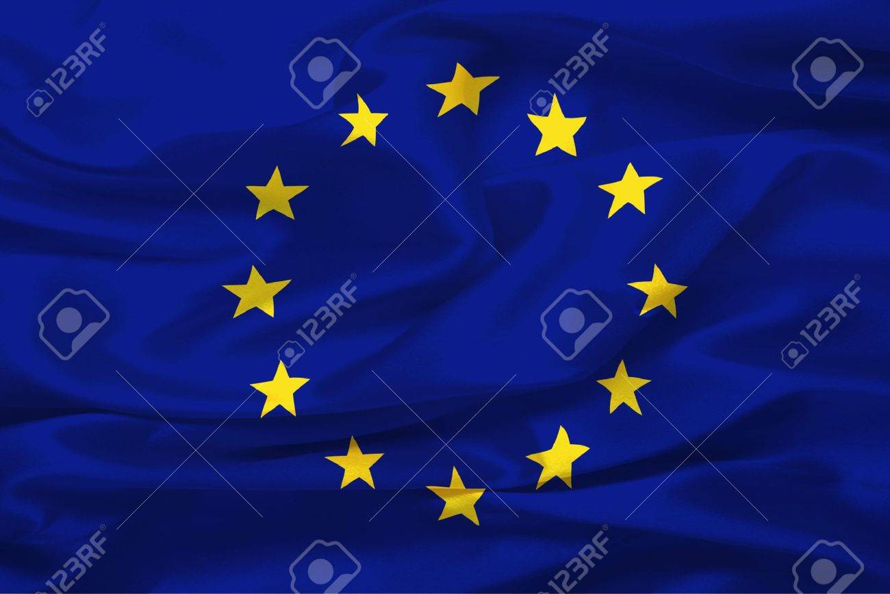 Flag of European Union (United States of Europe) - digital illustration - 1809076