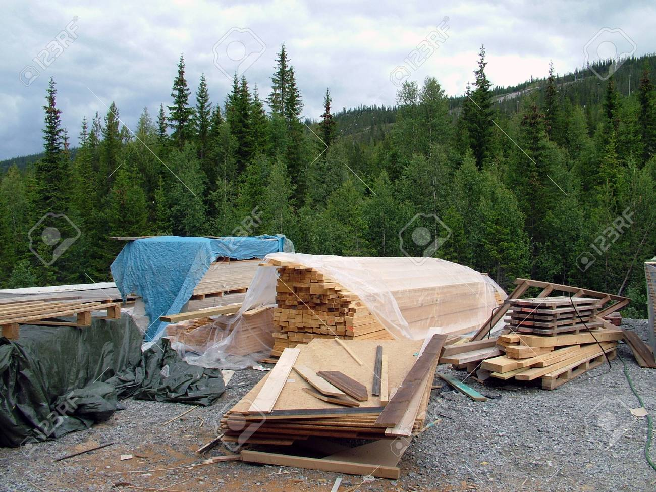 Stacks of Wood Ready For Construction Use Stock Photo - 1885048
