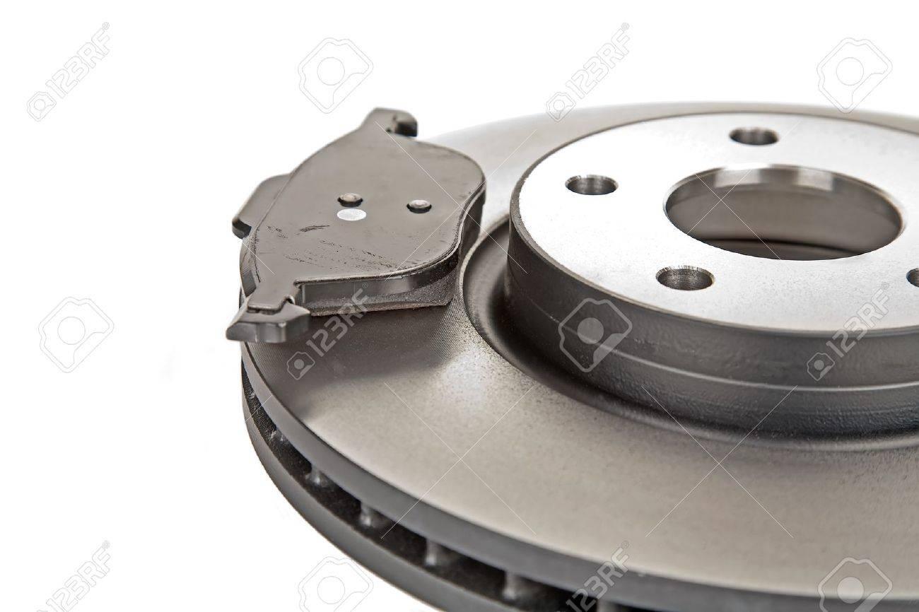 brake disk and one brake pad Stock Photo - 10225185