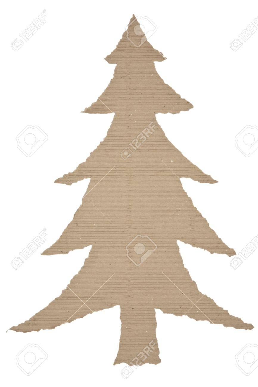 Christmas Tree Made Of Corrugated Cardboard Stock Photo Picture And