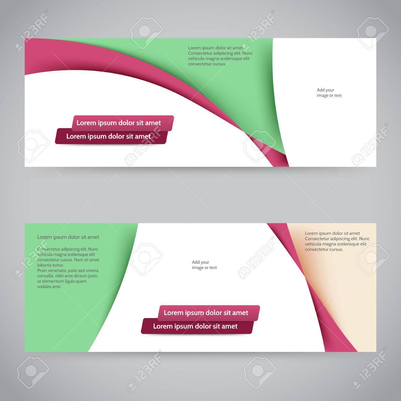 Banner Web Abstracto O Encabezado Plantilla De Diseño Ilustraciones ...
