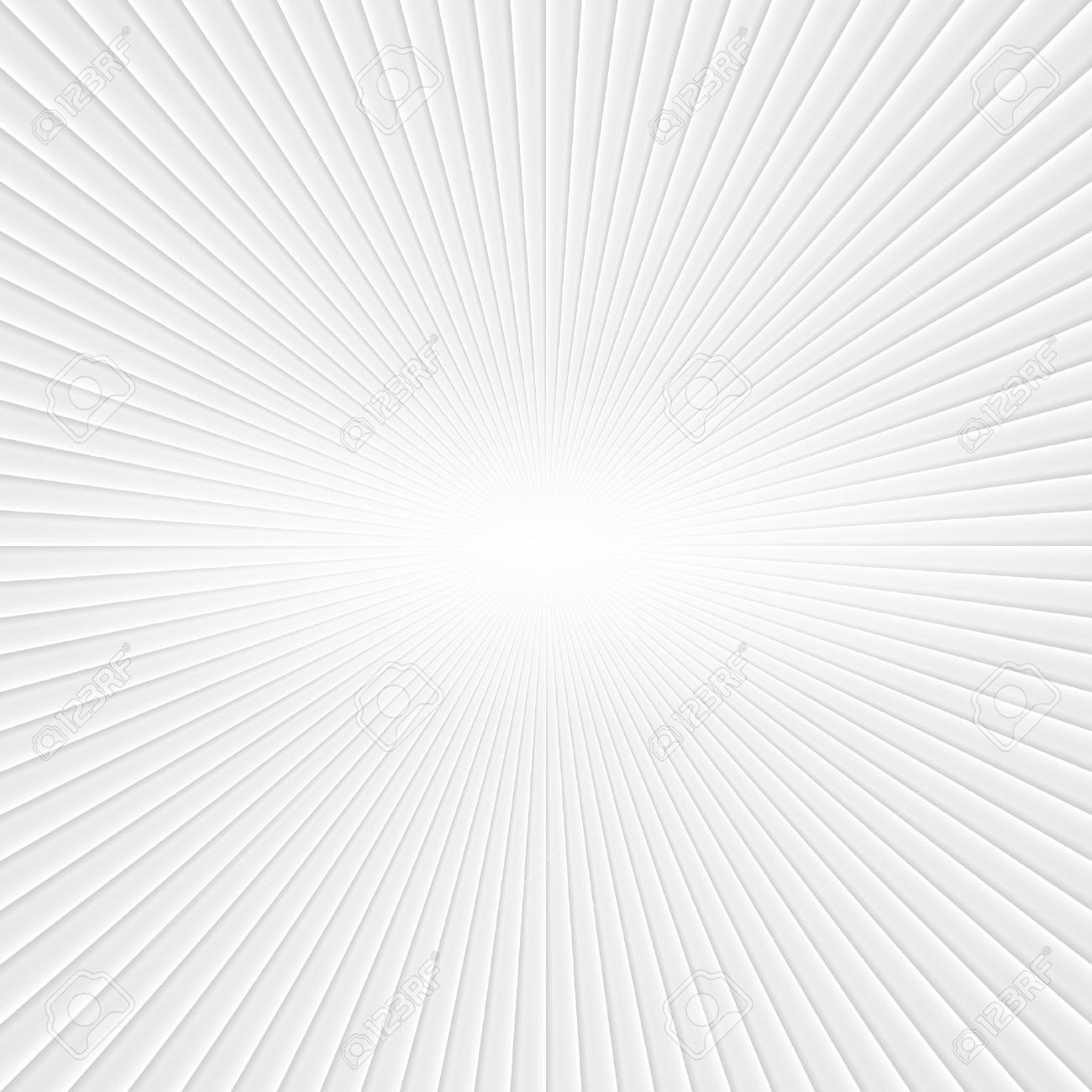 3D White Rays. Abstract Vector Background - 44661600