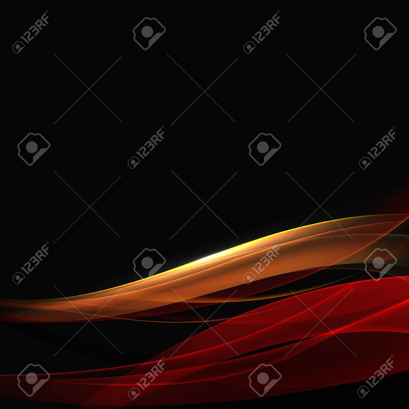 Abstract Background. Bright Transparent Waves on the Black Background - 56642529