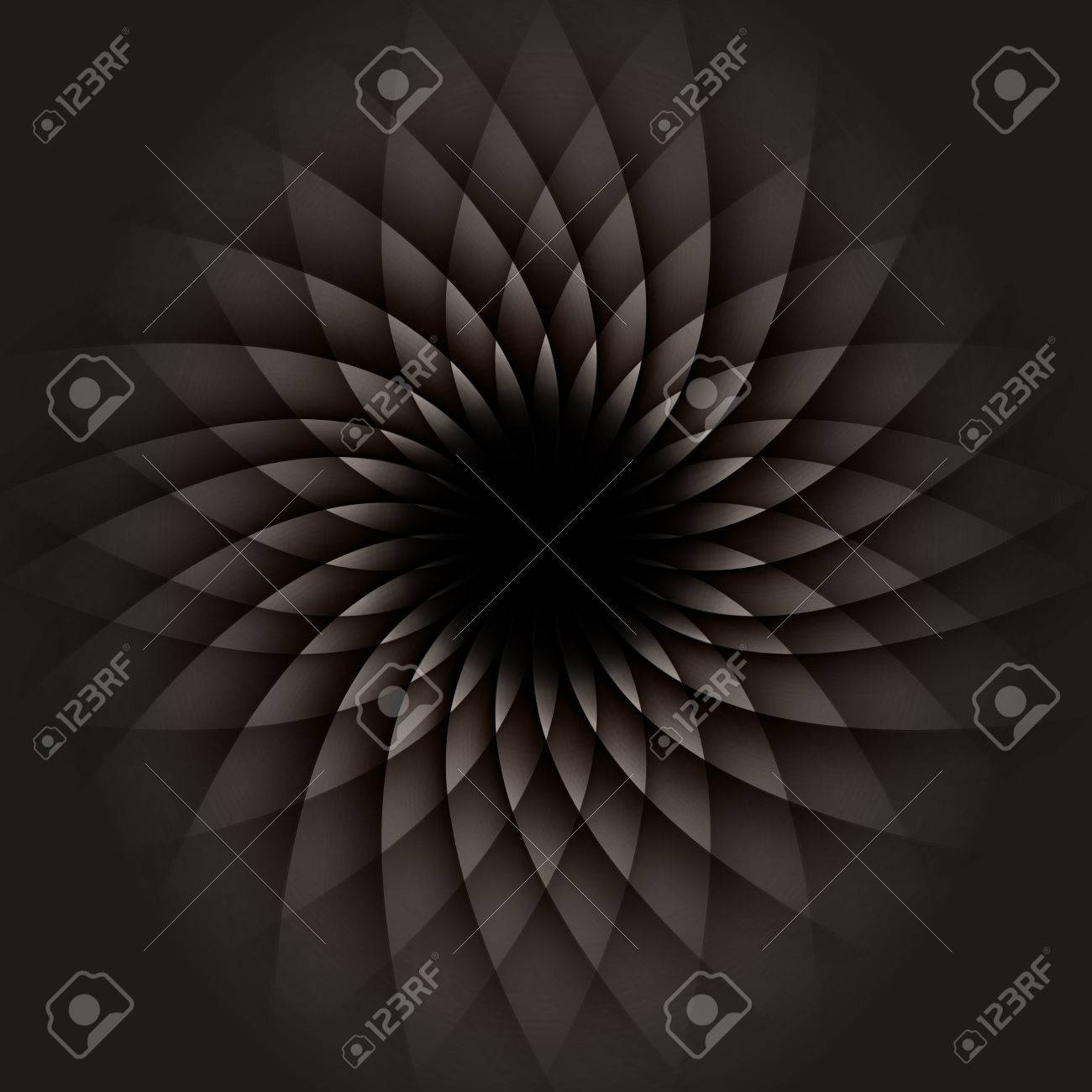 Dark Geometric Flower. Abstract Background - 57237527