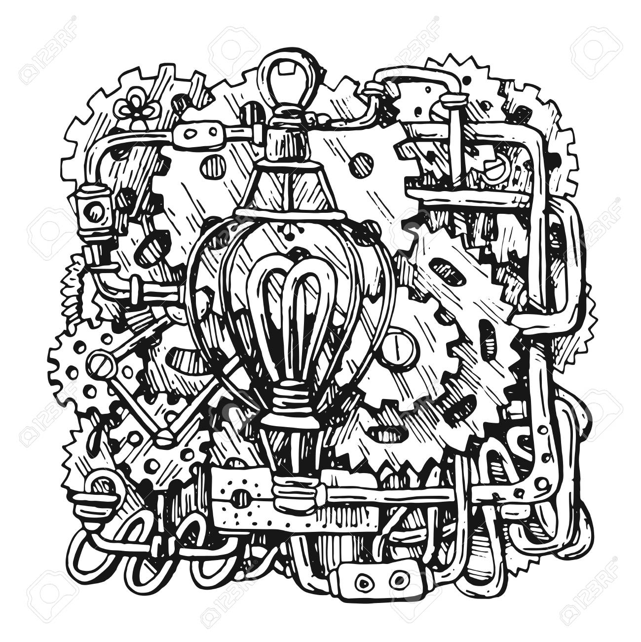 Steampunk Style Drawing Stock Photo Picture And Royalty Free Image Image 102392220
