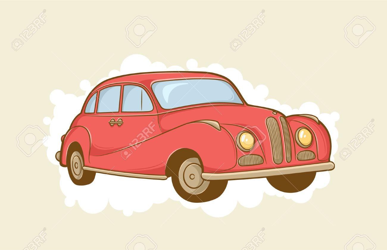 vector illustration of red retro car Stock Vector - 10203839