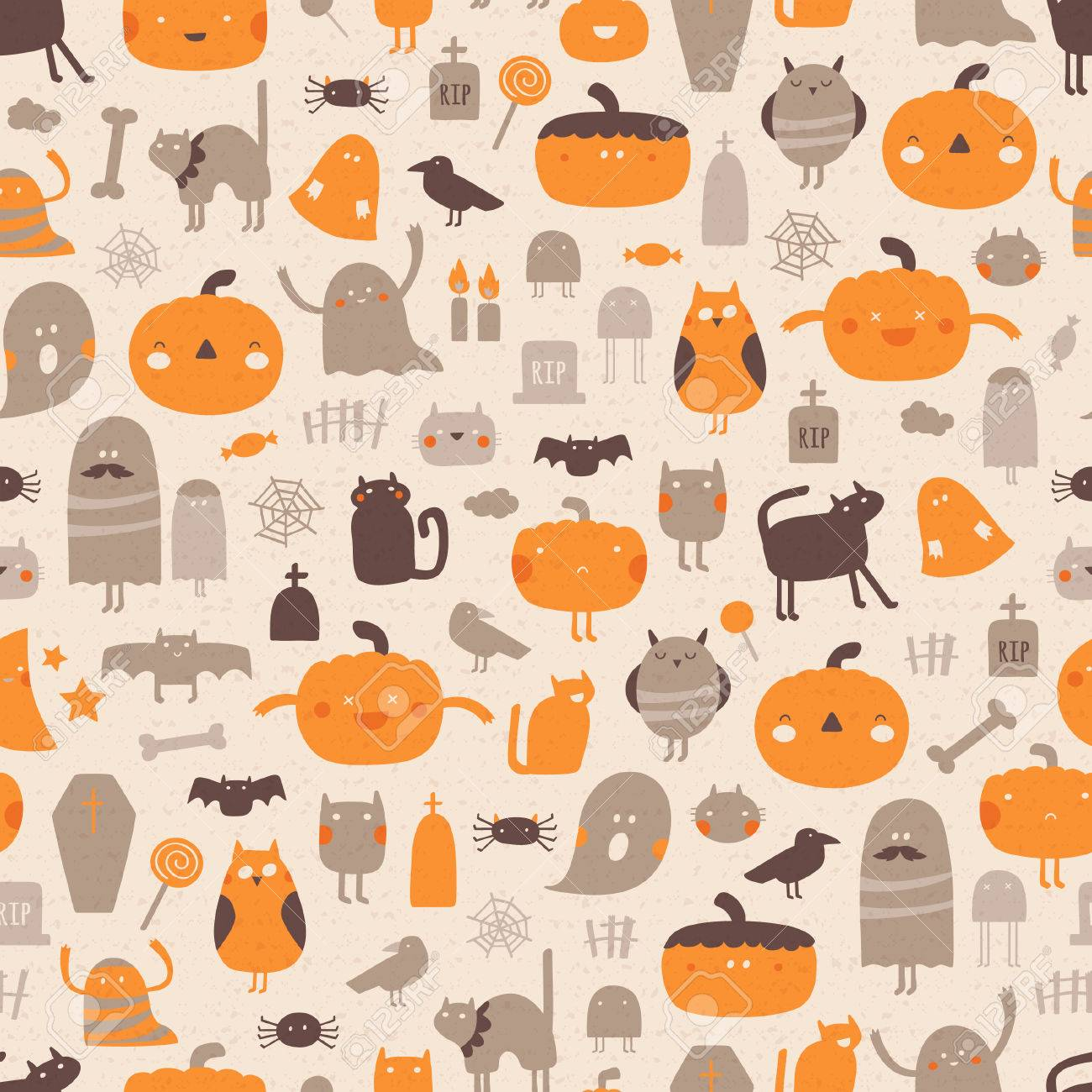 Vintage halloween background vector seamless pattern for vintage halloween background vector seamless pattern for halloween stock vector 64498667 biocorpaavc Choice Image