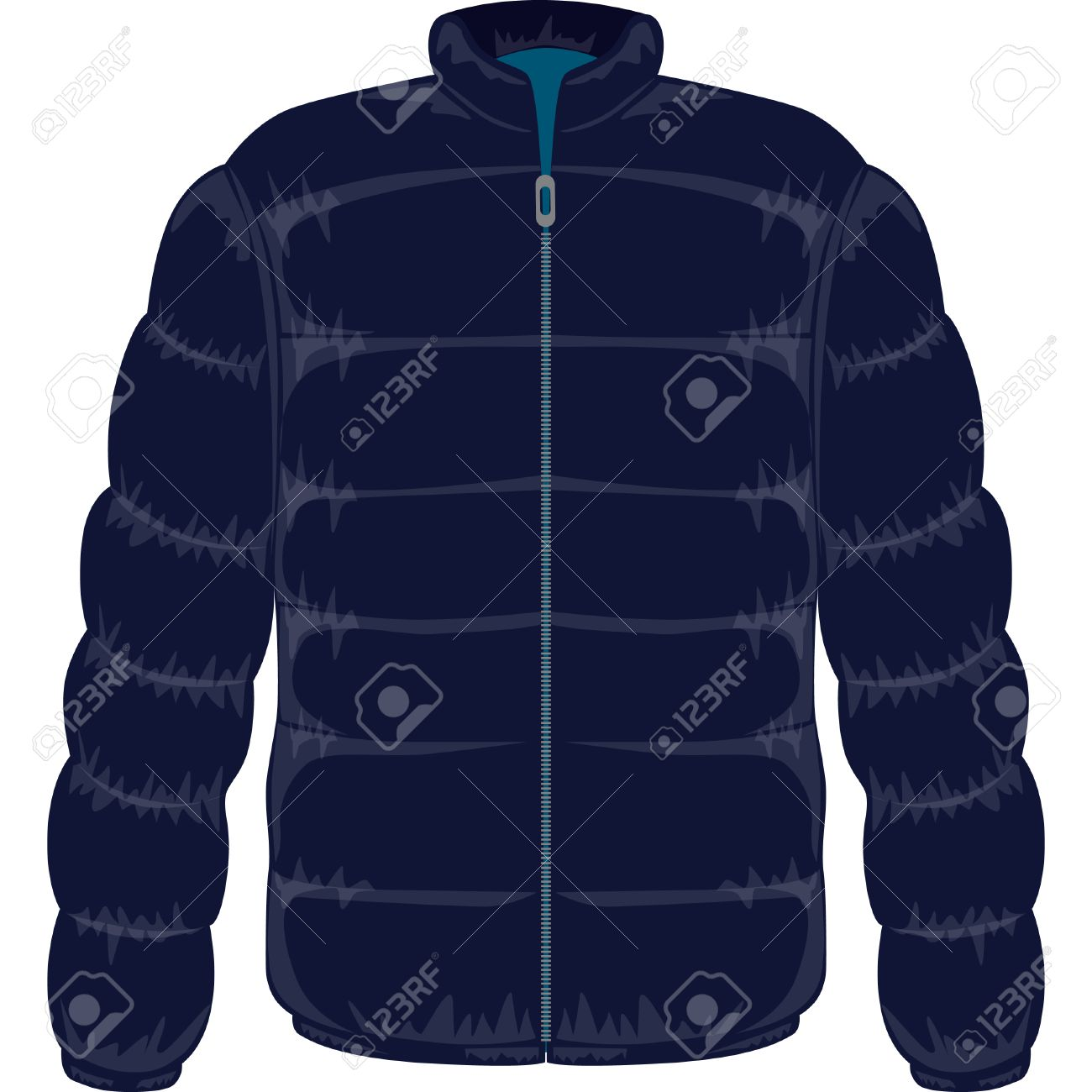 Winter Jacket Filled With Real Goose Down Royalty Free Cliparts