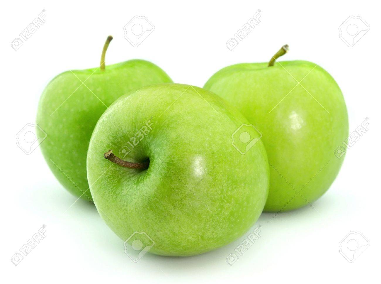 Green apples on a white background Stock Photo - 9058185
