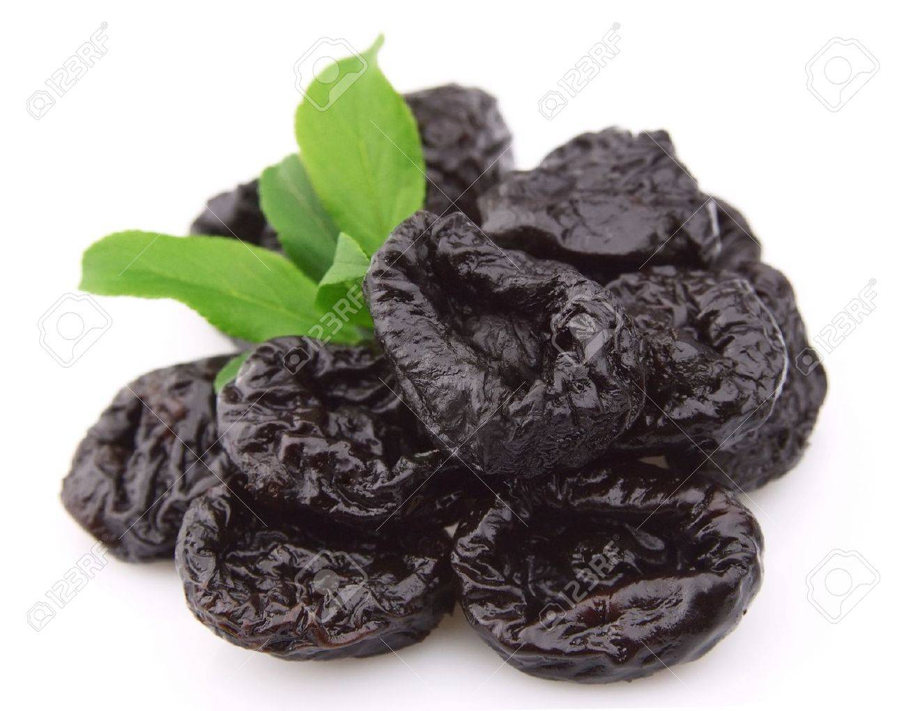 Prunes on a white background Stock Photo - 9529982