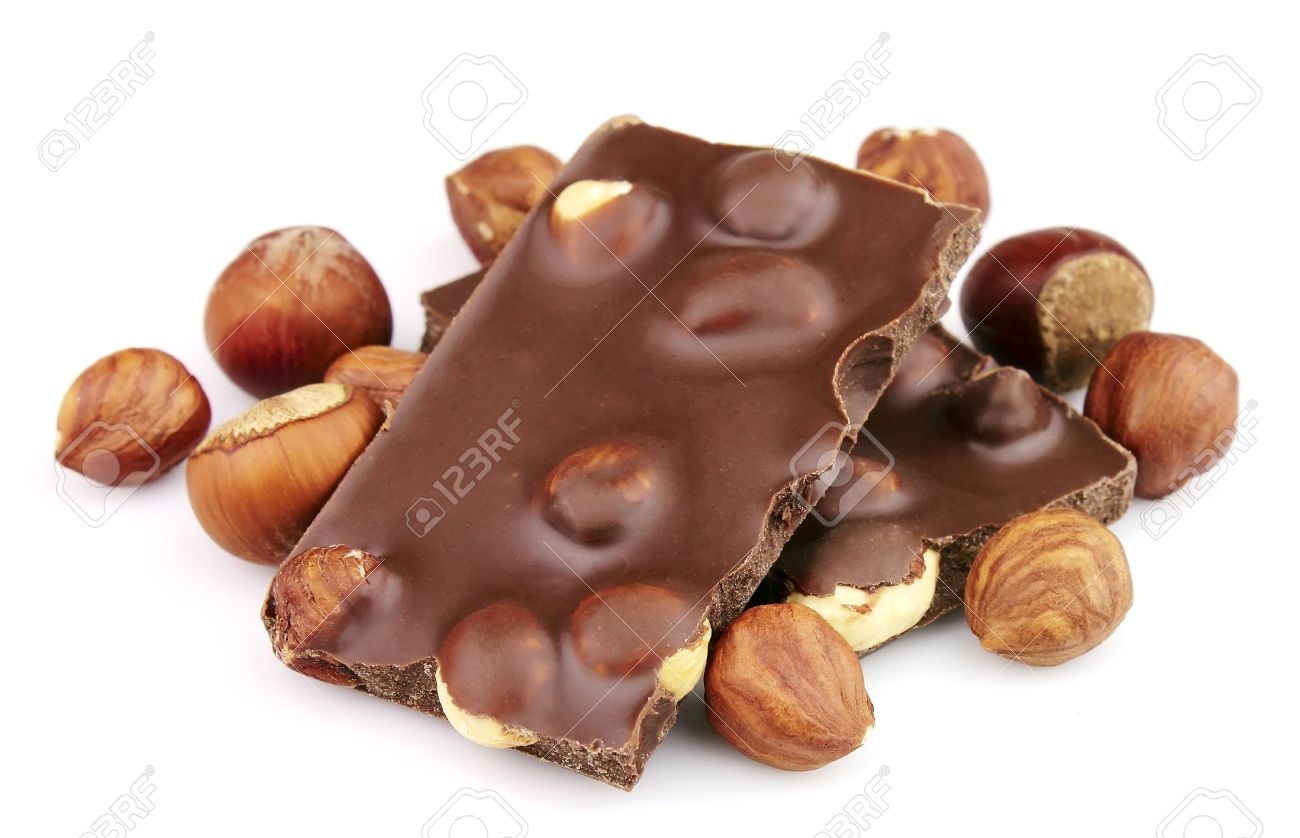 Delicious Chocolate With Nuts Closeup Stock Photo, Picture And ...