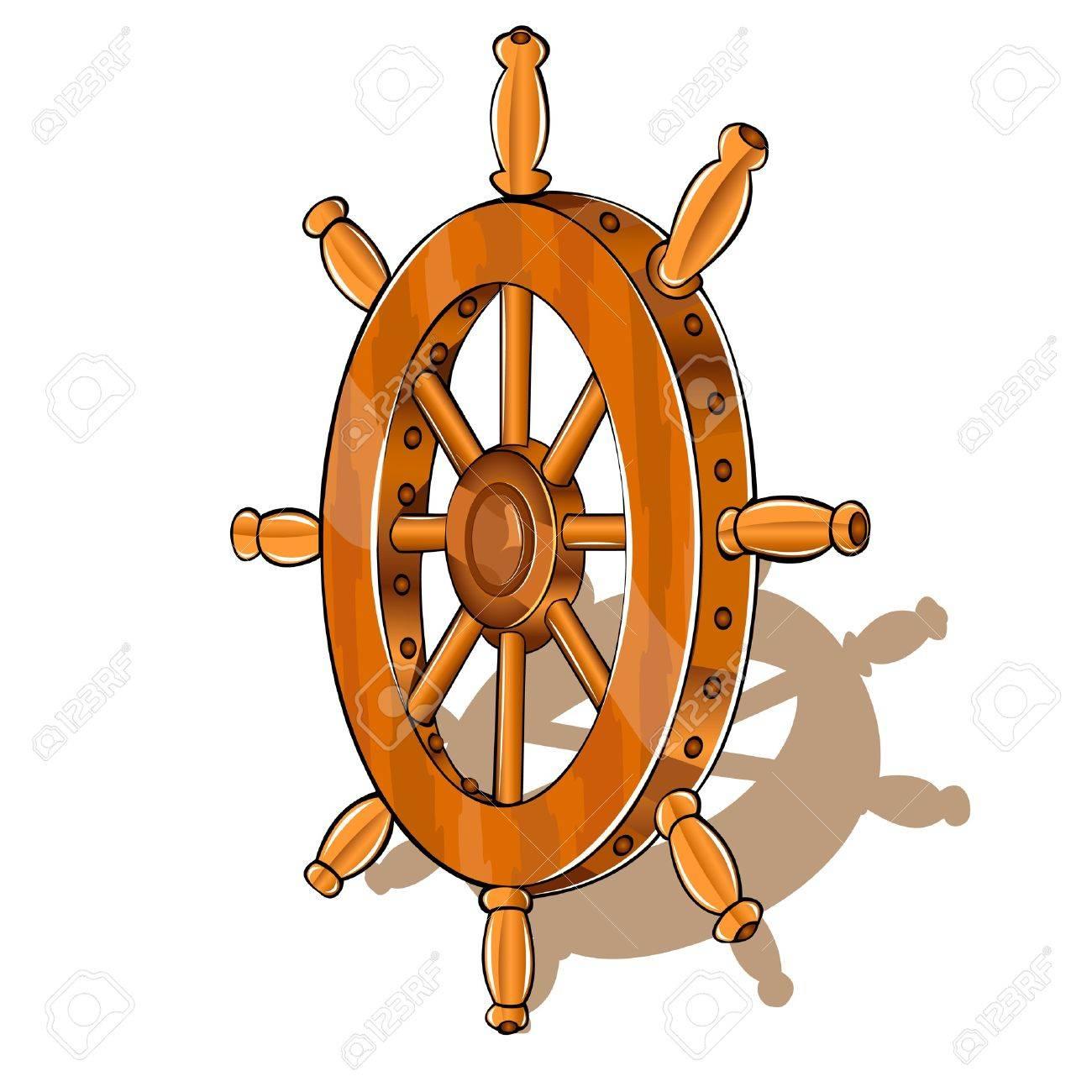 ship wheel Stock Vector - 16727578