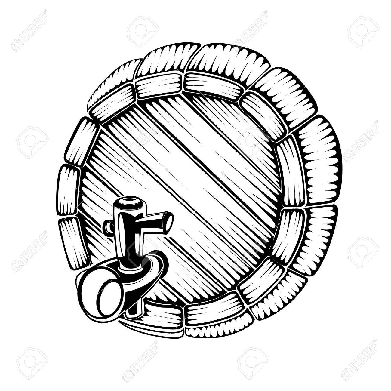 silhouette engraving of full face barrel - 18204034